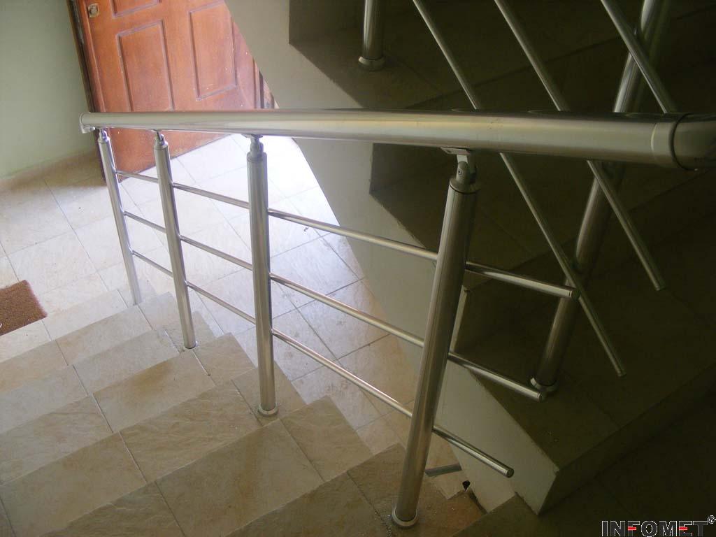 алуминиев парапет с 3 струни