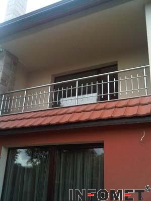 алуминиев парапет за тераса с хоризонтални и вертикални струни Ф16